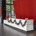 Red and silver Christmas garland