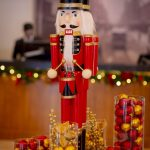 Christmas Nutcracker standing on table Melbourne hotel