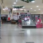 Christmas swags shopping centre