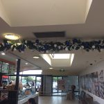 Blue and silver garland