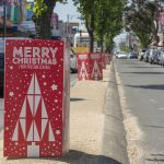 External tree wrap signage Christmas