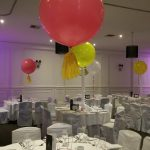 3ft round ballloons table centerpieces
