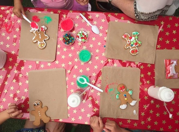 Gingerbread decorating Christmas activity