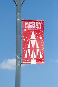 Street banner Christmas