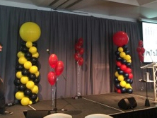 Balloon columns, Zinc Function Room for AFL Grandfinal 2019