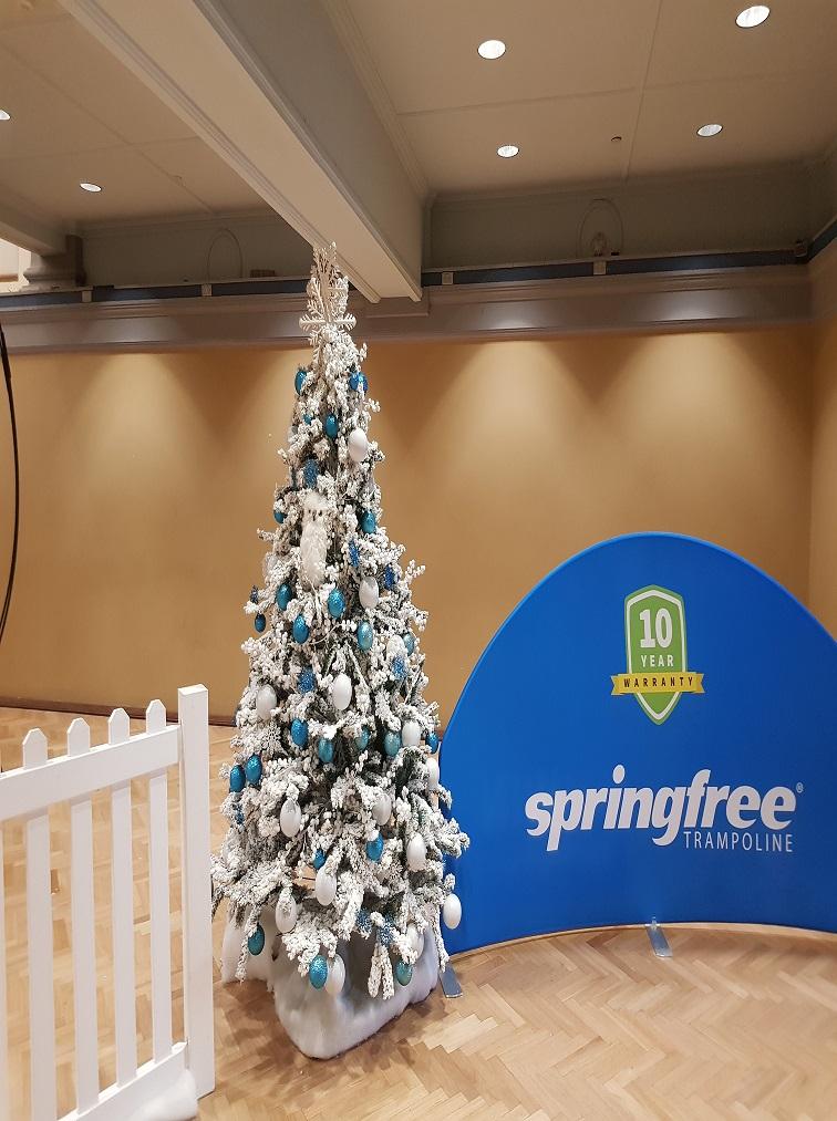 Winter Christmas tree with springfree