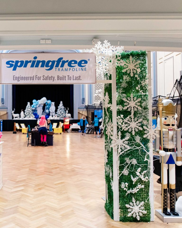 Springfree trampoline event entrance