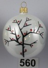 CZECH glass bauble hand painted