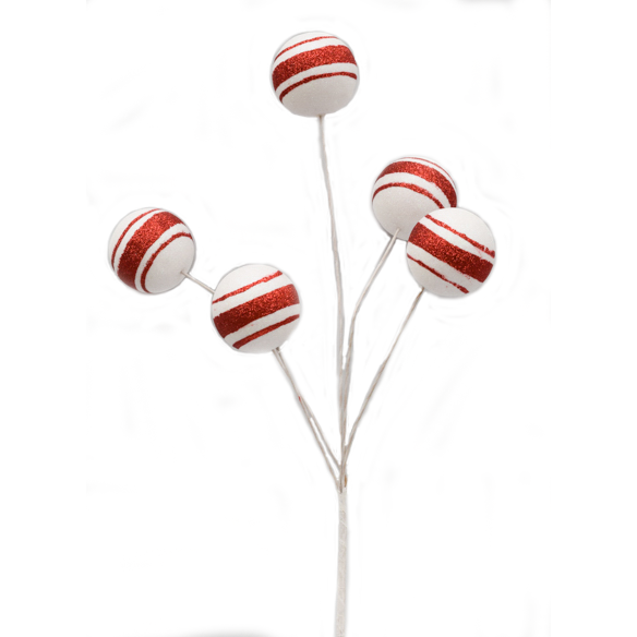 Candy stripe 5 bauble pick