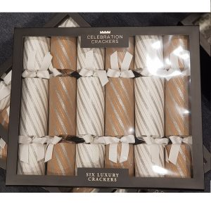 Slilver glitter stripe Christmas Crackers