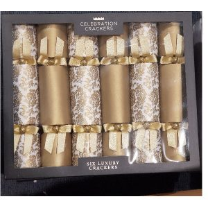 Luxury Gold Christmas crackers