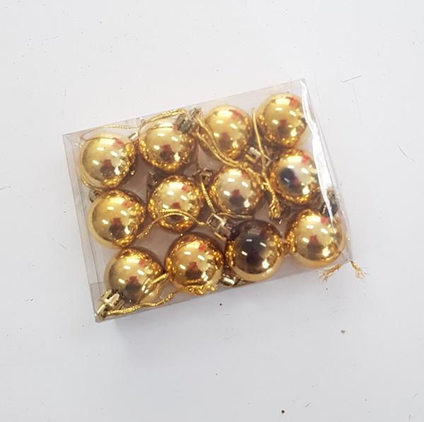 Gold baubles set 12