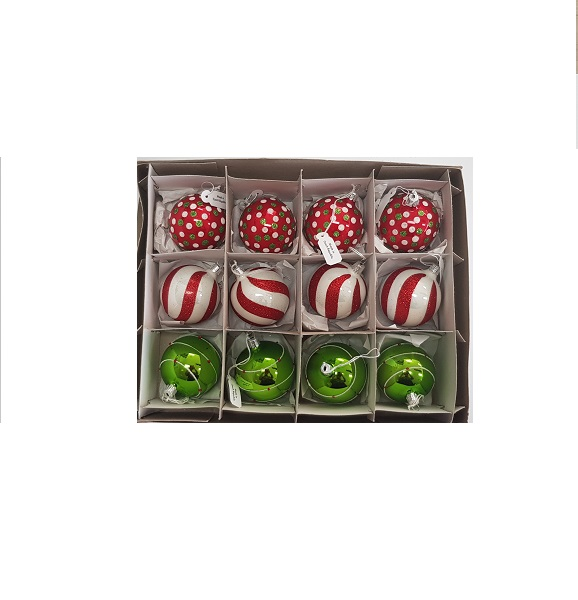 Red and green Grinch baubles