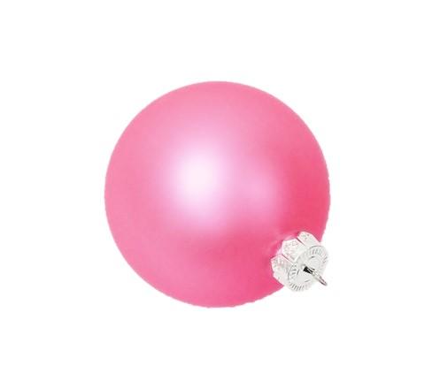 Matt pink Christmas bauble glass
