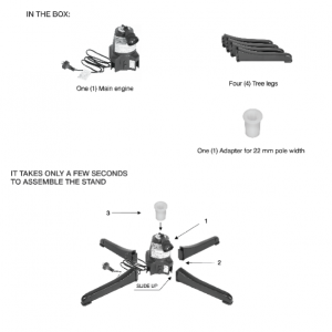 What is in the box instructions for your Revolving Christmas tree stand