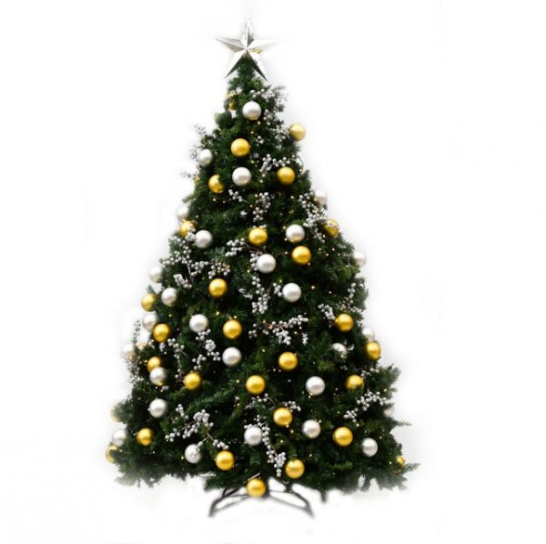 Gold and Silver decorated Christmas Tree