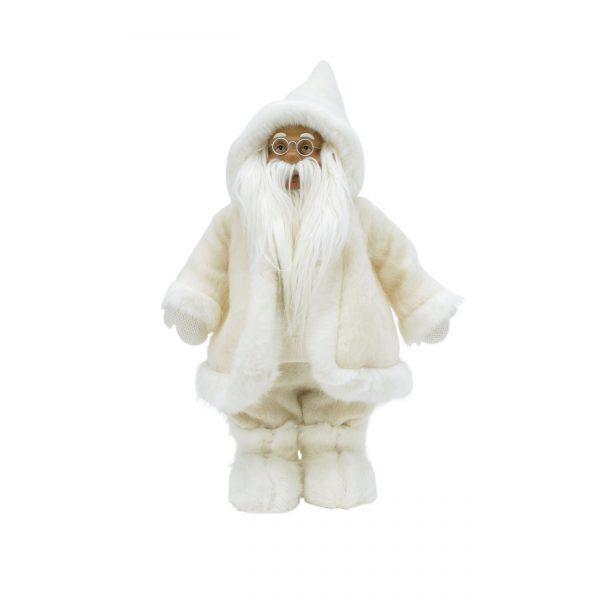 White Santa in fabric and fur