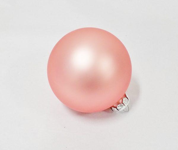 Peach glass bauble