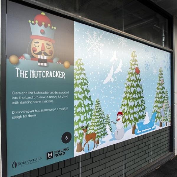 Nutcracker Christmas window decal