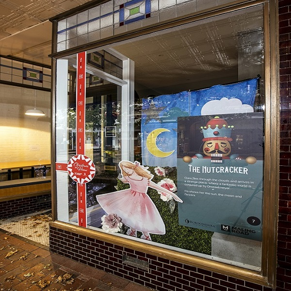 Nutcracker Christmas window