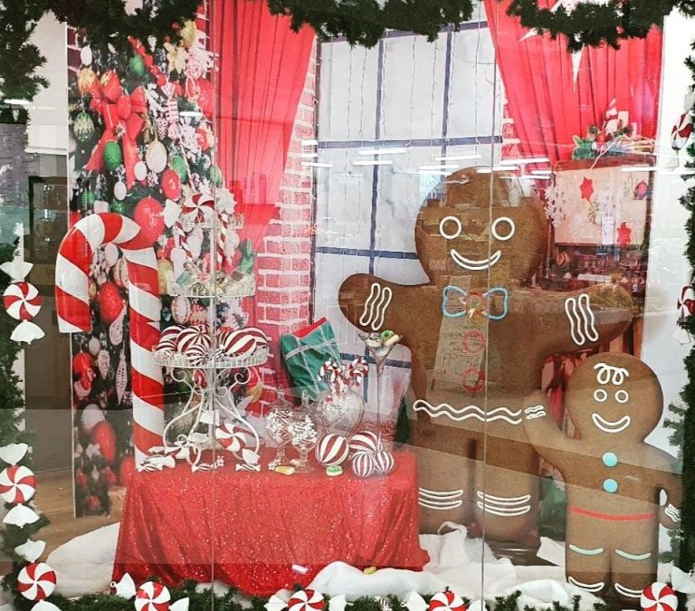 Gingerbread and Candy Retail window
