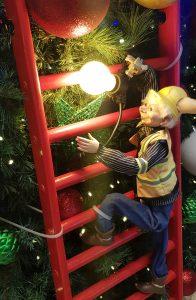 Elf on ladder Christmas tree