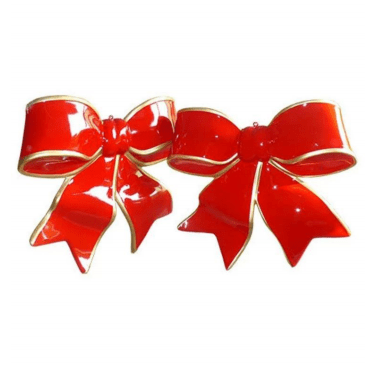Fiberglass red and gold bow