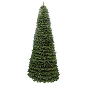 Large cone shaped green christmas tree