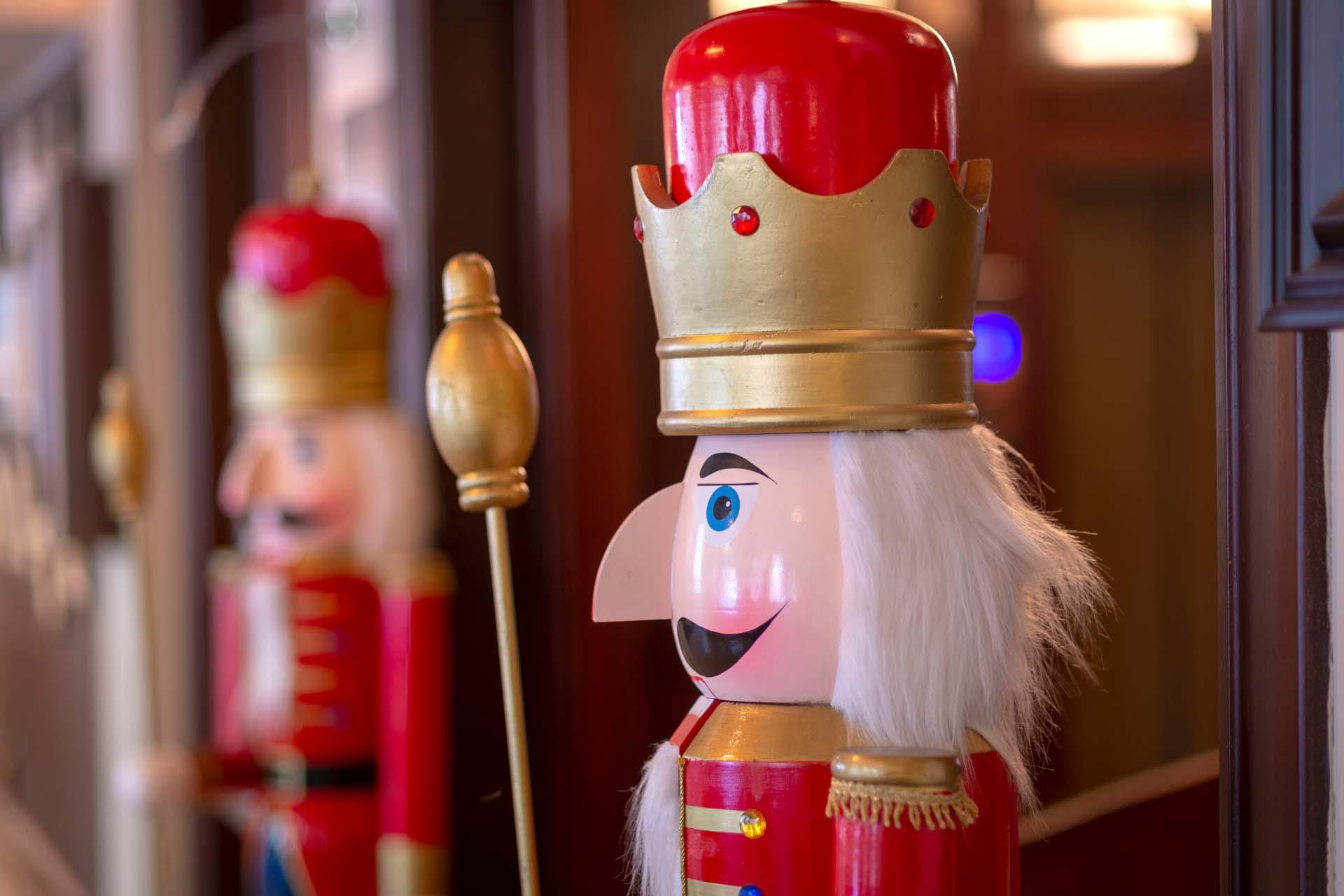 Nutcracker statues on guard