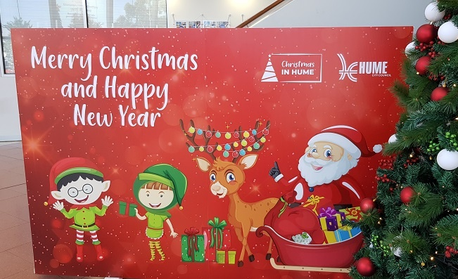 Christmas photoboard from Hume council