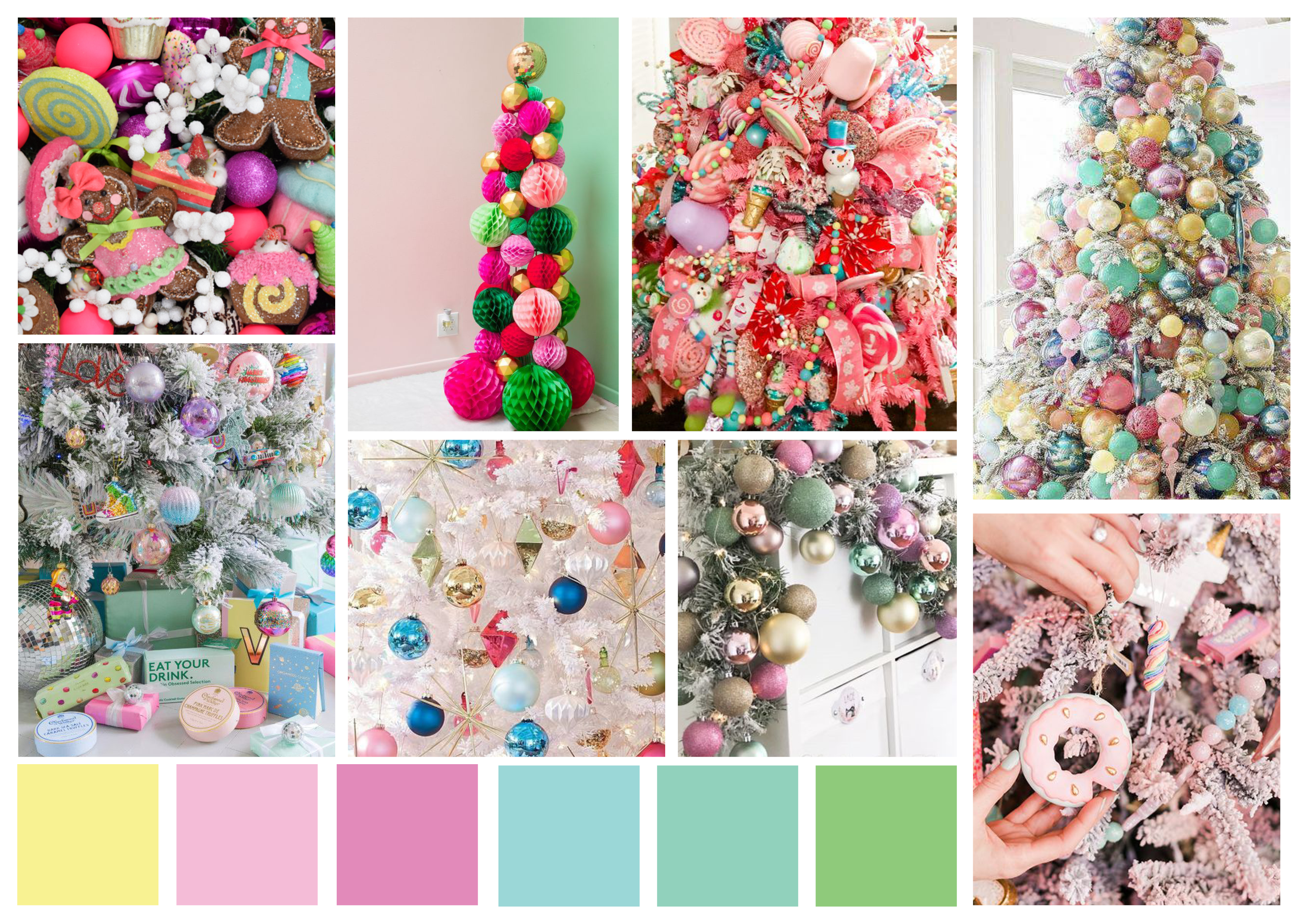 Display boxes of Christmas in colourful shades of fun