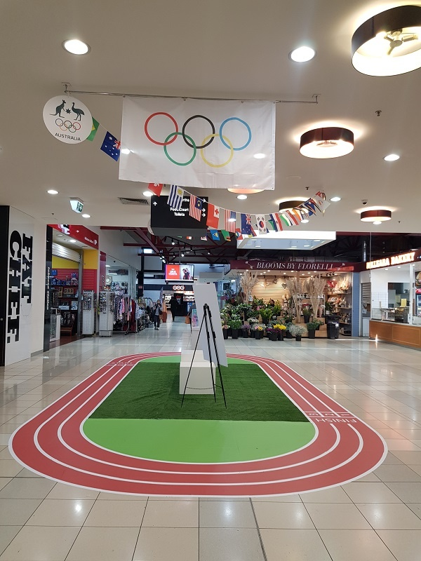 Athletics running track shoping centre