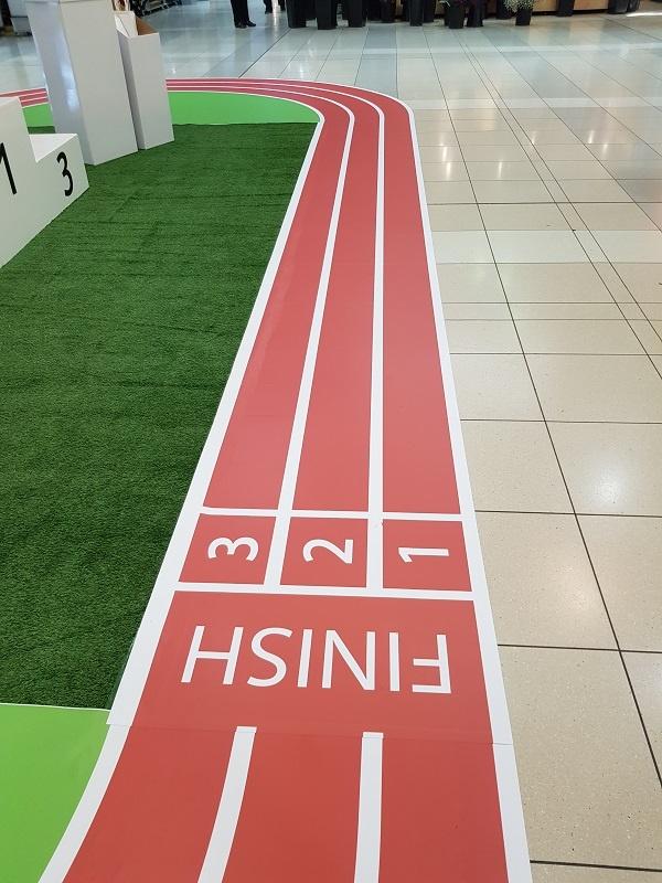 Athletics running track with START 1 2 3