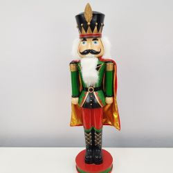 1076 NUTCRACKER 60cm Table Nutcracker Green