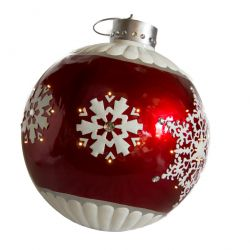 Large LED bauble Includes led lights around circumference Fiberglass