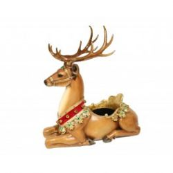 113 Sitting Reindeer tree stand/ present display