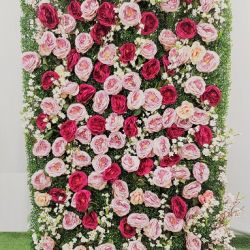 1068 Vertical Rose Green Wall