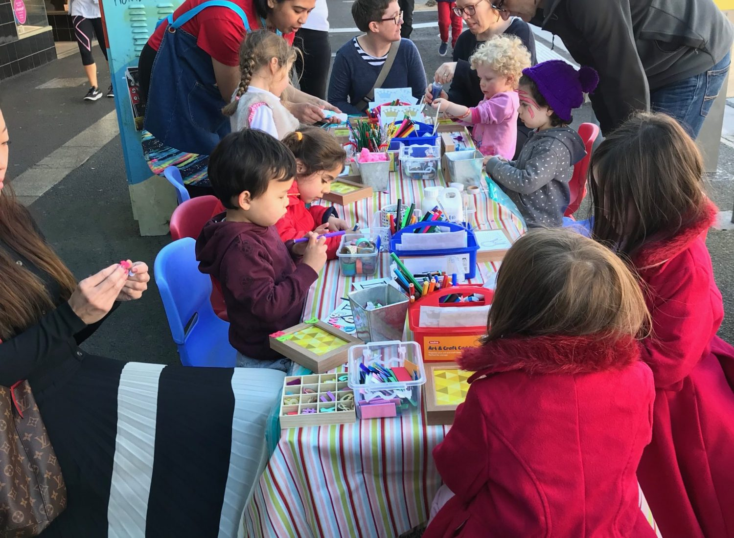 Fathers day craft stall at Moonee ponds